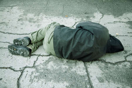 drunkenness: homeless  Stock Photo