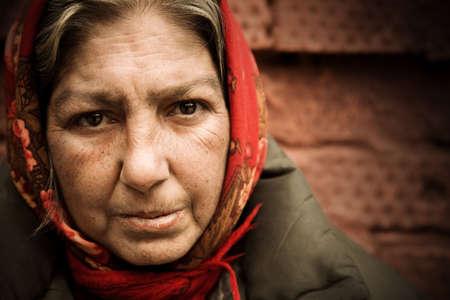 gente pobre: hogar mujer Foto de archivo
