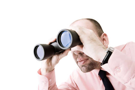 to observer: businessman looking for new ways Stock Photo