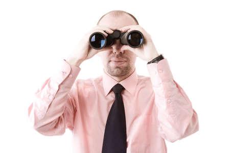to observer: businessman  Stock Photo