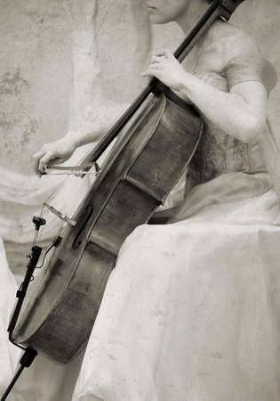 cello musician Stock Photo