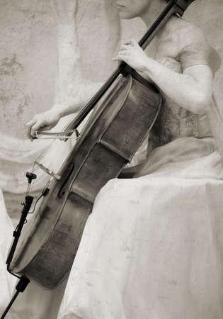one sheet: violoncello musicista Archivio Fotografico
