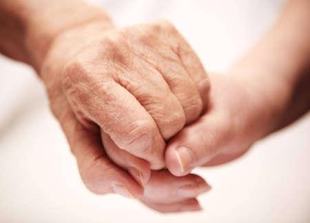 clasped hand: help