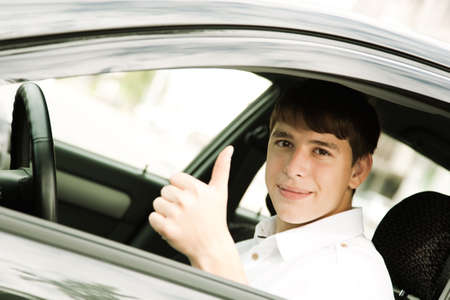 hansome: Happy Young Driver