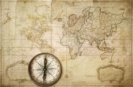 古い地図、1685 年に作られたオリジナルのプリント