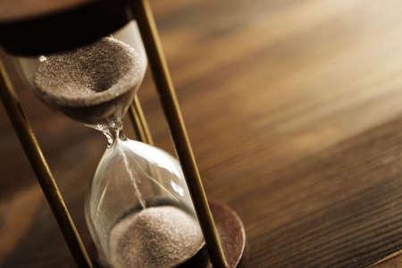 horloge ancienne: sablier Banque d'images