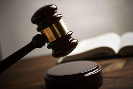 derecho penal: martillo Foto de archivo