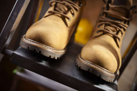 boots of constructor Stock Photo