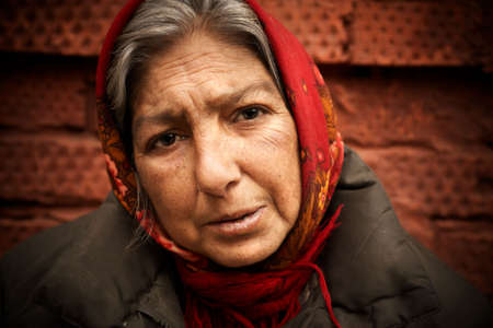 old beggar: homelessnes