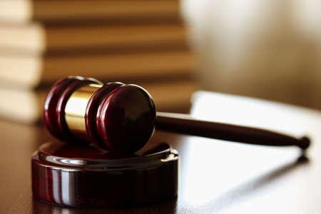giustizia: gavel, fuoco sulla parte nearestl