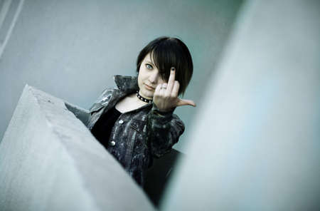 Angry emo Stock Photo - 7048421