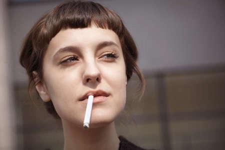 smoking woman photo