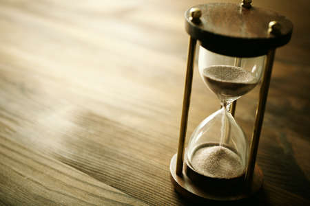 past: time concept, selective focus point, special toned Stock Photo
