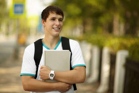 hansome: happy student