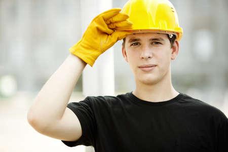 manual worker: Construction Worker Portrait  Stock Photo