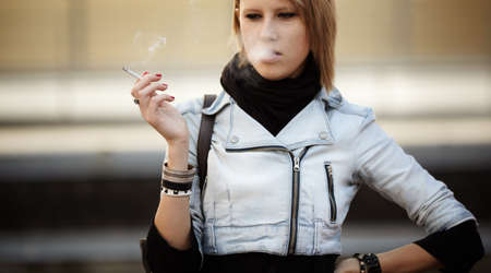 women smoking: smoking