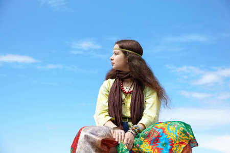 Hippie woman  Stock Photo - 8344775