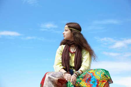 Hippie woman Stock Photo - 8344775