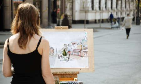 artistas: artista callejero Foto de archivo