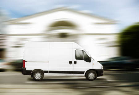 commercial white van Stock Photo - 8826004