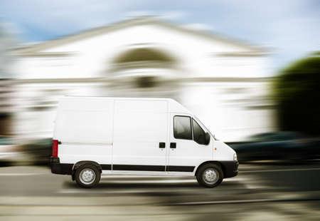 commercial white van