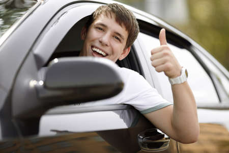 car driving: happy driving