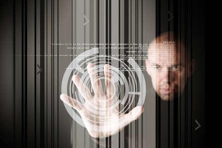 �cran tactile: travailler avec �cran tactile