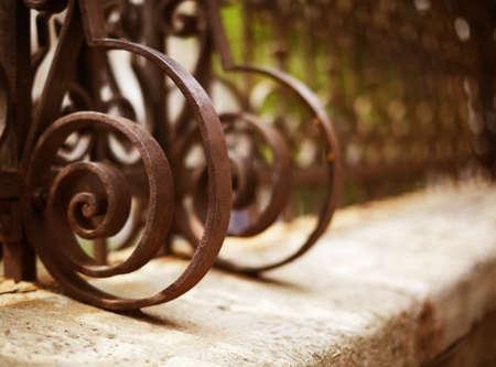Wrought Iron Fence Detail Standard-Bild