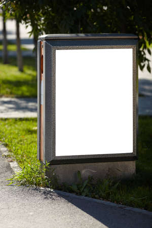 publicity: blank billboard