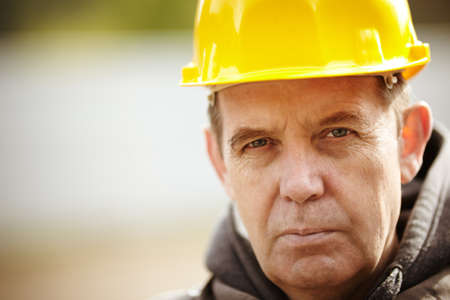 manual job: Construction Worker Portrait Stock Photo