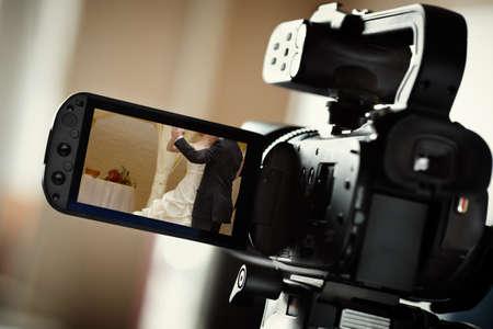 movie film reel: videoc�mara Foto de archivo