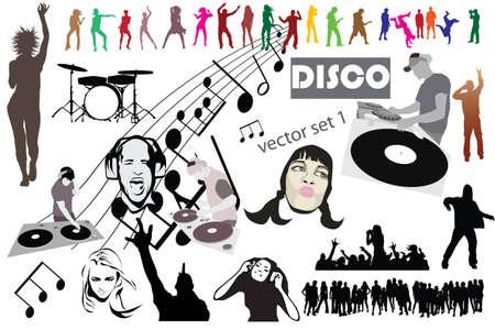 radio active: Disco mega set mix Stock Photo