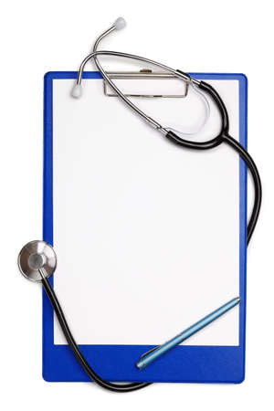Blank clipboard with stethoscope Stock Photo - 12661758