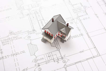 houses on blueprint  photo