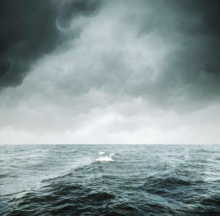 gloomy: storm  Stock Photo