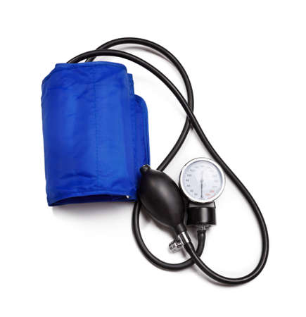 Blood pressure device  isolated over white background  photo