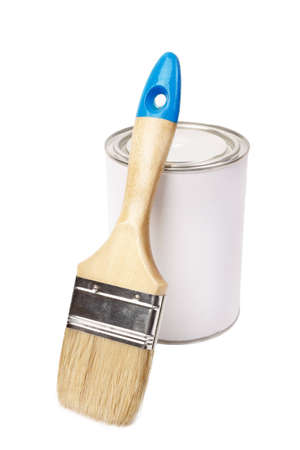blank and new brush isolated on a white background photo