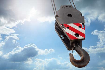 crane parts: concepto de la construcci�n, la atenci�n selectiva en la parte m�s cercana