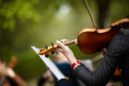 instrumentos musicales: Viol�n Foto de archivo