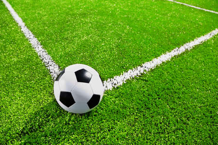 Corner of soccer field with the ball Stock Photo - 14256082
