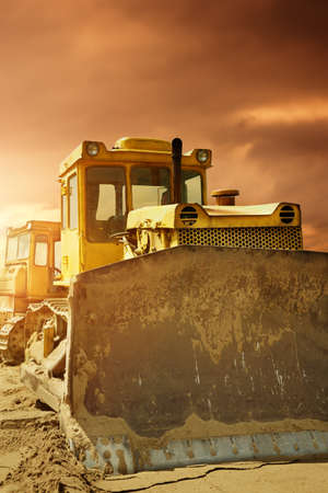 Bulldozer at work  photo