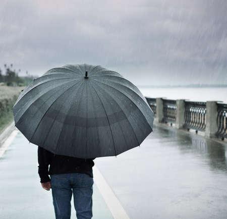 umbrella rain: rainy day Stock Photo