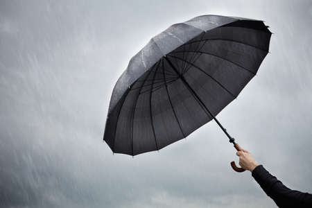 weather protection: rain Stock Photo