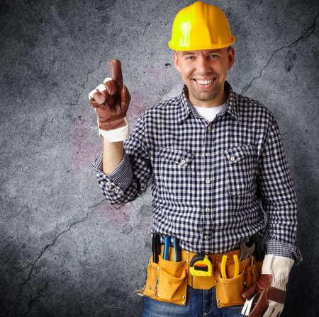 cinturon seguridad: profesional de la construcci�n