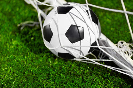 Soccer ball and goal net Stock Photo - 15078041