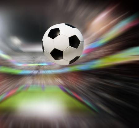 Soccer ball in stadium Stock Photo - 16399885
