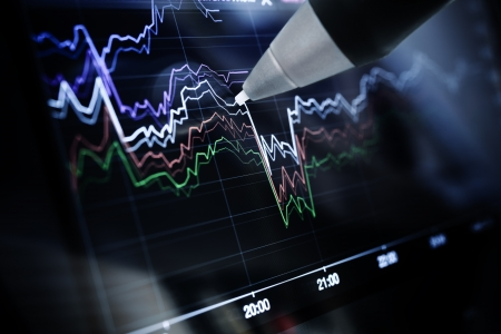 Business charts and markets, media concept