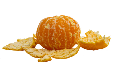 Mandarin orange, fruit of the Rutaceae family native to Asia and cultivated in four continents 스톡 콘텐츠