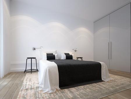Dormitorio blanco Foto de archivo - 35423925