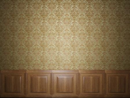 wood panelled: wood panel wallpaper Stock Photo